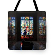 Mausoleum Stained Glass 07 Tote Bag