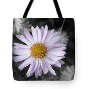 Mauve Beauty W-black And White Tote Bag