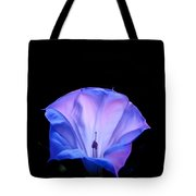 Mauve Blue Black Angels Trumpet Tote Bag