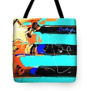 Max Stars And Stripes In Inverted Colors Tote Bag