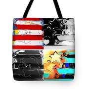 Max Stars And Stripes In Quad Colors Tote Bag