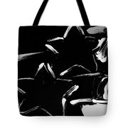 Max Two Stars In Black And White Tote Bag