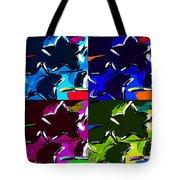 Max Two Stars In Pf Quad Colors Tote Bag