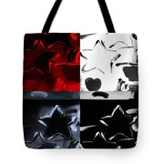 Max Two Stars In Quad Colors Tote Bag