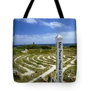 May Peace Prevail On Earth Peace Labyrinth Aruba Tote Bag