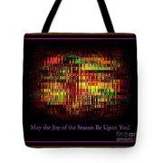 May The Joy Of The Season Be Upon You - Christmas Lights - Holiday And Christmas Card Tote Bag