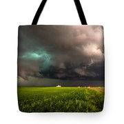 May Thunderstorm - Storm Twists Over House On Colorado Plains Tote Bag