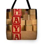 Maya - Alphabet Blocks Tote Bag