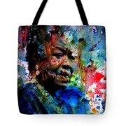 Maya Angelou Paint Splash Tote Bag