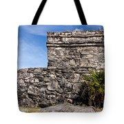 Mayan Building At Tulum Tote Bag