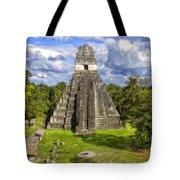Mayan Temple At Tikal Tote Bag