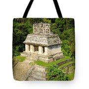 Mayan Temple Tote Bag