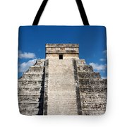 Mayan Temple Pyramid At Chichen Itza Tote Bag