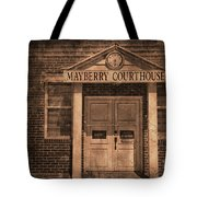 Mayberry Courthouse Tote Bag