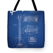 Mccarty Gibson Les Paul Guitar Patent Drawing From 1955 - Bluepr Tote Bag
