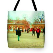Mcgill Univ Students And Faculty College Campus Montreal Memories Collectible Art Prints C Spandau Tote Bag