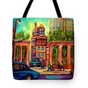 Mcgill University Roddick Gates Montreal Tote Bag