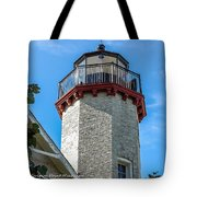 Mcgulpin Point Lighthouse Michigan Tote Bag