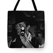 Mcq And Rooster Cogburn Homage Robert Mitchum And Harry Stradling Jr Tote Bag