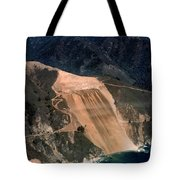 Aerial Of Mcway Landslide Big Sur California 1984 Tote Bag