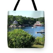 Round Pond Scene Tote Bag