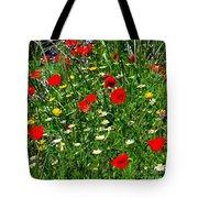 Meadow Flowers - Digital Oil Tote Bag