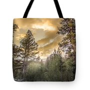 Meadow Sunset Gold Tote Bag