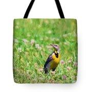 Meadowlark In The Wildflowers Tote Bag