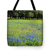 Meadows Of Blue And Yellow. Texas Wildflowers Tote Bag