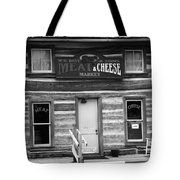 Meat And Cheese Market Black And White Tote Bag