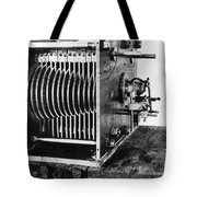 Mechanical Gear Number Sieve Tote Bag by Underwood Archives