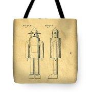 Mechanical Man Patent Tote Bag