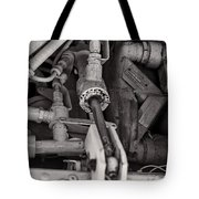 Mechanicals Bw Tote Bag