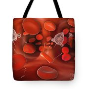 Medical Nanobots In The Bloodstream Tote Bag