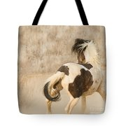 Medicine Hat Turns Tote Bag