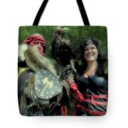 Medieval Barbarian Couple Tote Bag