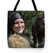 Medieval Barbarian Eriana Iceni And Spirit Tote Bag