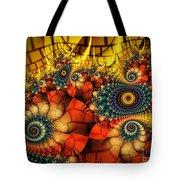Medieval Ceremonial-fractal Art Tote Bag