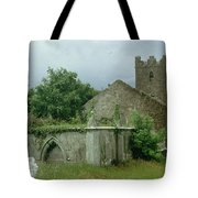 Medieval Church And Churchyard Tote Bag