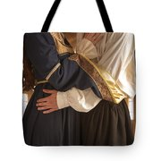 Medieval Couple Embracing Tote Bag