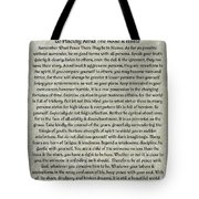 Medieval Desiderata Poster On Estruscan Marble Tote Bag