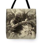 Medieval Jousting Tote Bag