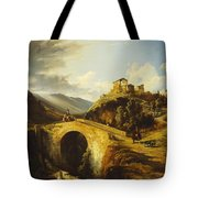 Medieval Landscape Tote Bag