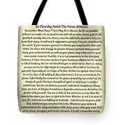 Medieval Provencal Desiderata Poster Tote Bag