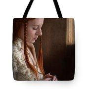 Medieval Tudor Woman With Red Hair  Tote Bag