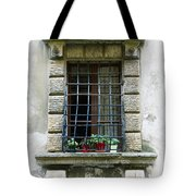 Medieval Window With Iron Grilles Tote Bag