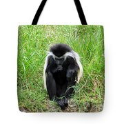 Meditating Monkey Tote Bag