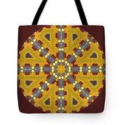 Meditating On Life - Mandala Tote Bag