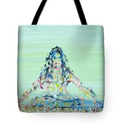 Meditation Blues Tote Bag