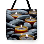 Meditation Candles Tote Bag